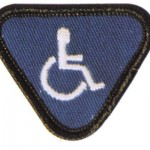 Sew on disabled Badge
